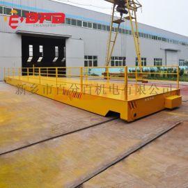 超长台面15吨电动平板车 流水线转弯轨道车车间