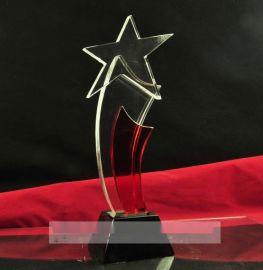 企业单位  员工水晶奖牌,  老员工奖杯,年度评选水晶奖杯定做
