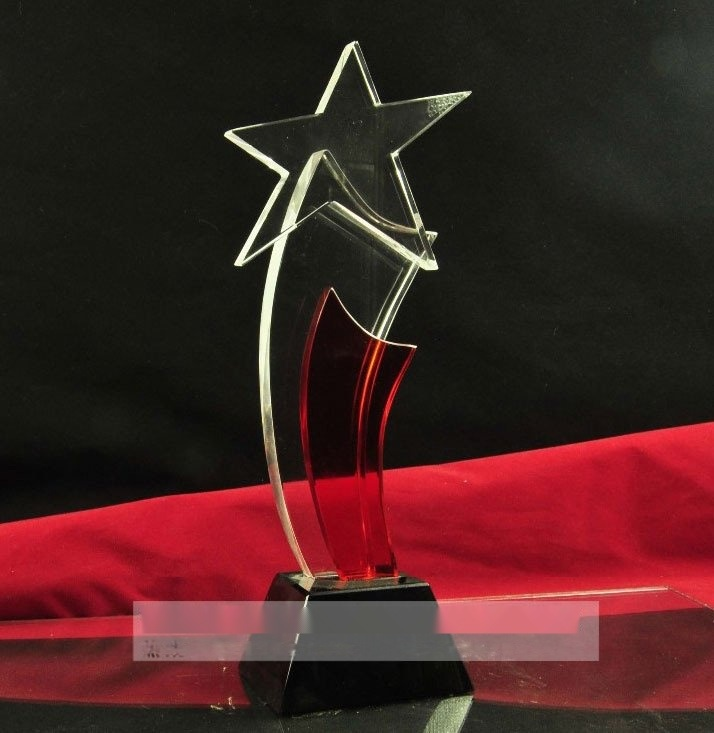 企业单位**员工水晶奖牌,**老员工奖杯,年度评选水晶奖杯定做