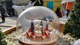 亚克力防尘罩半球 有机玻璃半圆球 罩透明边水晶球 缘打孔半球