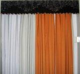 三层遮光植绒窗帘