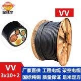 金环宇电线,VV 3*10+2*6平方电缆,双层胶皮电缆, 红色