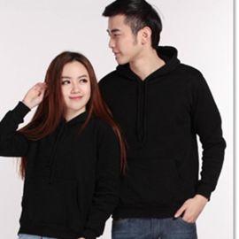 春秋冬工作服定做加绒加厚套头连帽绒衫男女工装外套可印制LOGO