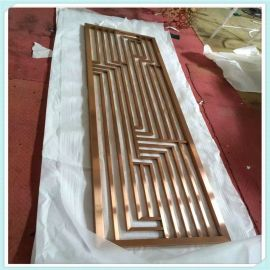 定制不鏽鋼屏風鏤空雕花格簡易大方不鏽鋼屏風加工
