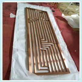 定制不锈钢屏风镂空雕花格简易大方不锈钢屏风加工