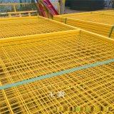 定做黄色车间隔离网  蓝色喷塑铁丝网  绿色围网