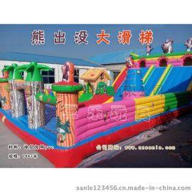 14*7米户外流动经营大型充气滑梯 广西南宁新款气垫滑梯多少钱