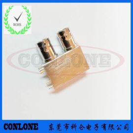 双层HD-SDI全金属**BNC75欧姆视频连接器