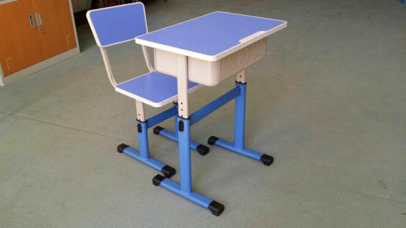学生单人课桌椅/  课桌椅/单柱升降课桌椅