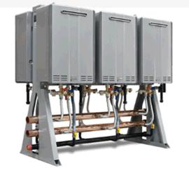 节能热水设备 浴场热水系统 燃气热水并联系统 太阳能辅助热水器