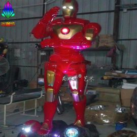 尚雕坊现货供应2015款220CM复仇者联盟钢铁侠玻璃钢雕塑