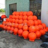 北京塑料海上浮子 海洋警示橙色浮球 拦污浮体