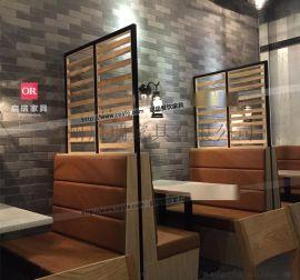 咖啡厅桌椅 皮艺卡座沙发 西餐厅餐桌椅组合茶餐厅餐桌甜品店桌椅
