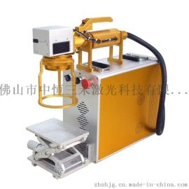 深圳广州佛山中山金属标牌制作厂家304不锈钢锅光纤激光打码机