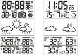 RF室内外温湿度LCD气象钟IC