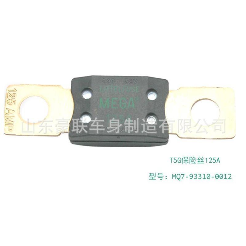 豪沃T5G保险丝 32V125A保险丝插片 保险片插片HOWO保险片 图片