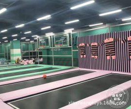 浙江廠家直銷 網紅蹦牀蜘蛛牆千層漏 大型蹦牀館設備