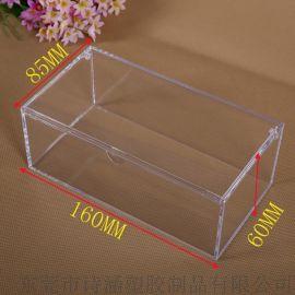 【一箱起批发】长方形PS塑胶盒 翻盖加厚 水晶塑料盒 产品包装用