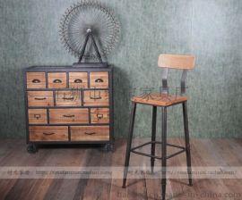 铁木结合高脚酒吧餐桌椅 红宝家具厂直销
