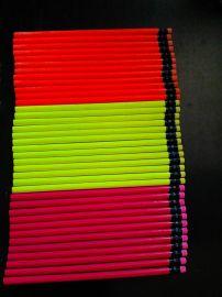 荧光3色HB带皮头铅笔
