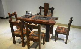 船木茶台户外实木家具客厅阳台小型茶桌椅