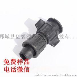 菏泽滴灌厂家直销 pe管管件 16简易直接 锁母旁通 三通