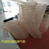 PU聚氨酯管除尘钢丝木工吸尘软管透明伸缩