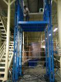 揚州市導軌液壓升降機載貨電梯高空貨物舉升機啓運唐山
