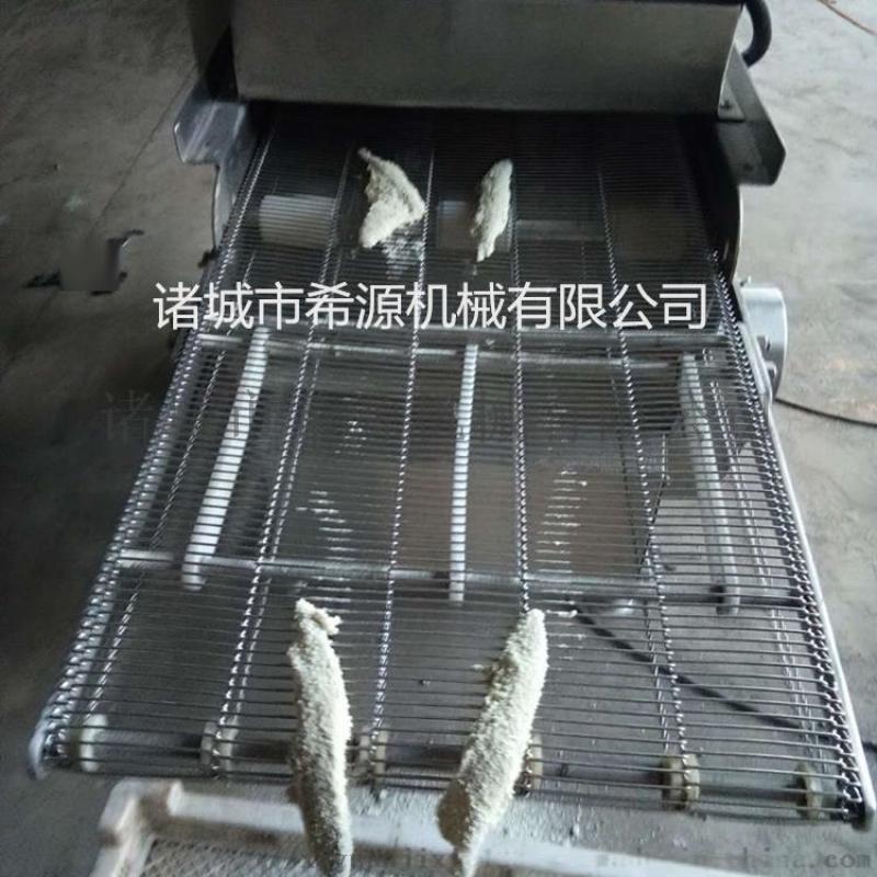 刀鱼段裹糠机、刀鱼段浸浆机、刀鱼段裹粉机专用设备