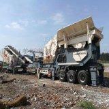 山东移动建筑垃圾破碎机 轮胎式破碎机 碎石机厂家