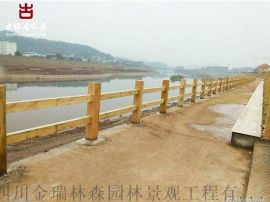 雲南实木栏杆厂家,水泥栏杆河道护栏定制厂家