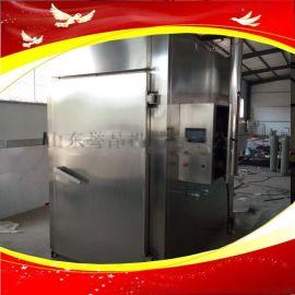 烧鸡板鸭烟熏炉烤鹅电加热全自动熏蒸箱熟食加工设备