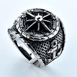 316不锈钢铸造戒指 钛钢首饰  复古船锚  现货批发生产 外贸货
