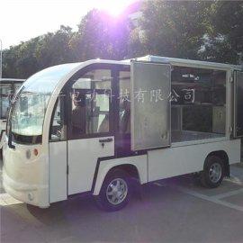 茂名2座封闭式电动送餐车,电厂不锈钢餐车价格
