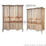 亞歷山大英式傢俱定製工廠歐式別墅裝飾衣櫃/歐式傢俱高級定製/臥室儲物櫃