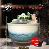 陶瓷洗浴大缸 洗浴中心泡澡缸 极乐泡澡陶瓷缸 1米洗浴缸1.1米