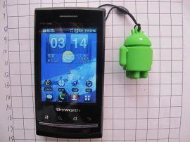 現模生產安卓手機掛件,3D立體安卓吊飾手機掛件