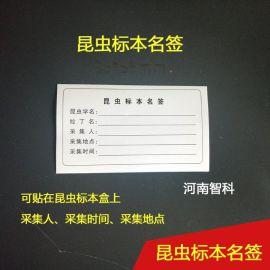 昆蟲標本名籤 、標本制作標籤、河南智科