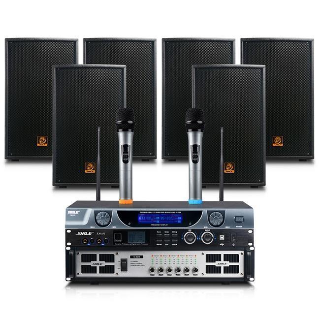 狮乐SHILE大型工程12寸音响设备组合套装