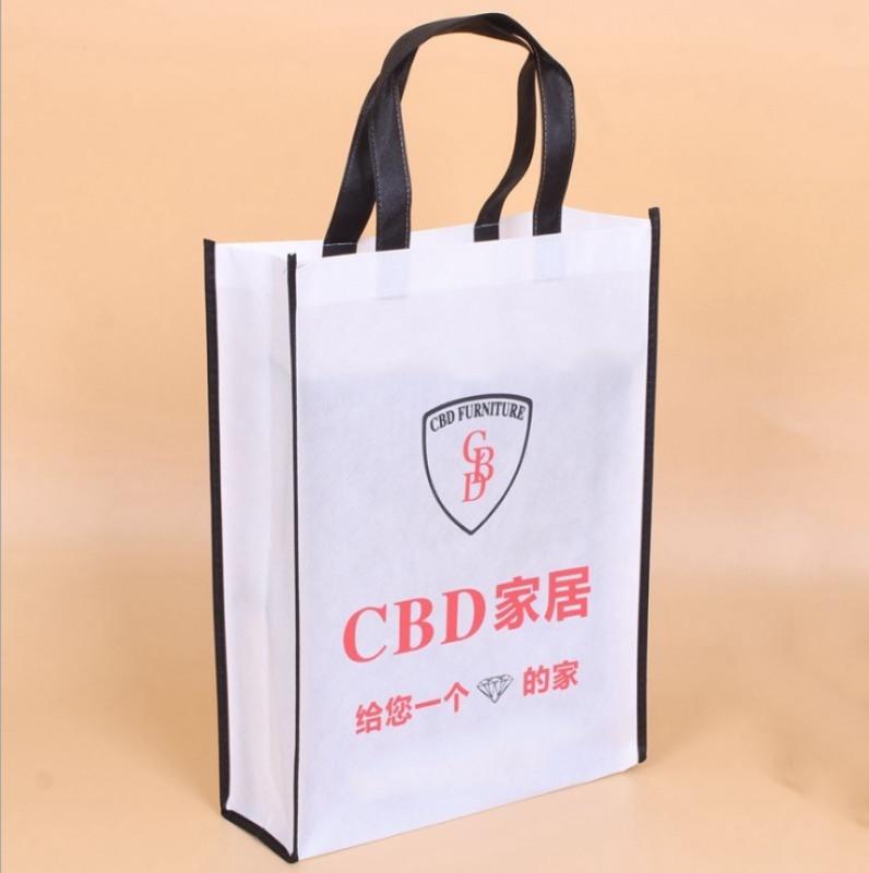 覆膜手提无纺布袋定做折叠购物包装袋环保平口袋定制