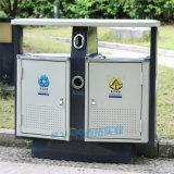 室外公园垃圾桶户外不锈钢垃圾箱分类物业垃圾桶