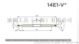 14E1-24° 基体加强尖角带角度进口金刚石砂轮