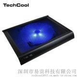 NCP49铝制拉丝单冷却风扇式手提电脑笔记本散热器