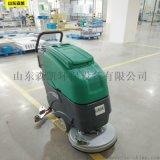 濟南商用洗地機 手推式洗地機 物業保潔專用擦地機