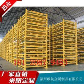 折叠式仓储笼 带轮子可订做生产厂家直供金属仓库笼