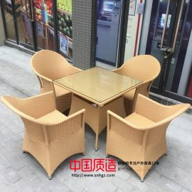 编藤户外桌椅广州舒纳和现货供应