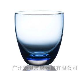 喷色玻璃水杯,喷镀玻璃口杯,渐变色玻璃杯子