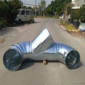 通畅螺旋风管专业生产镀锌板环保螺旋风管厂