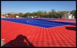 塔城地區氣墊懸浮地板籃球場塑膠地板拼裝地板廠家
