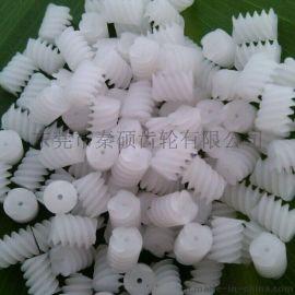 供应秦硕0.25模数蜗杆  塑胶四头蜗杆